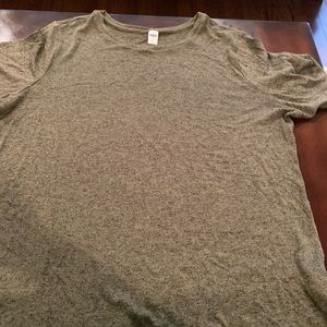 Olive Green Short Sleeve Lounge Shirt